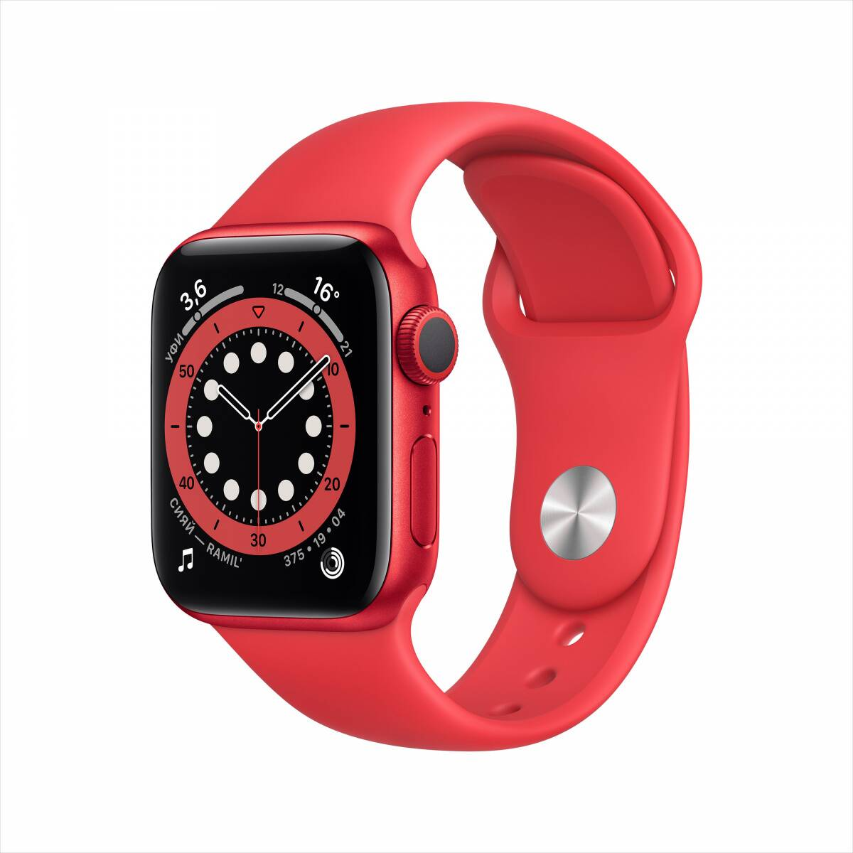Часы Apple Watch Series 6 GPS 40mm Aluminum Case with Sport Band (PRODUCT)RED M00A3 США